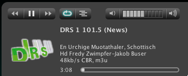 DRS1 Titelinformationen im SqueezeCenter